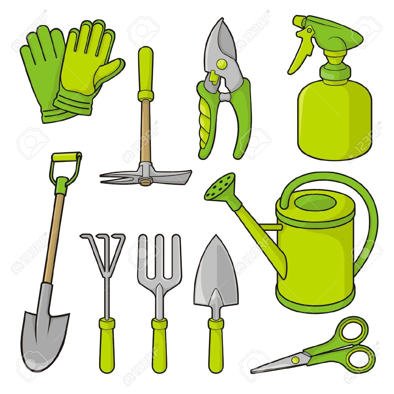 Home design ideas garden tools clipart for Gardening tools clipart